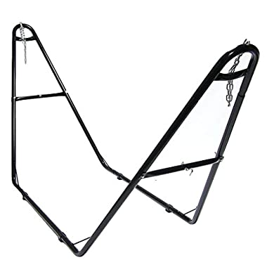 Sunnydaze Universal Multi-Use Heavy-Duty Steel Hammock Stand, 2 Person, Fits Hammocks 9 to 14 Feet Long, 440 Pound Capacity