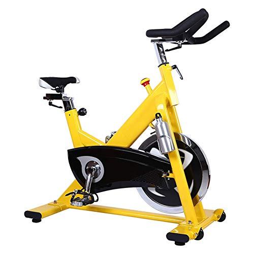 YLJYJ Fitness Cardio Home Cycling, Volante Grande de Acero Inoxidable de 20 kg y transmisión bidireccional por Correa Marco de Acero al Carbono Capacidad de Carga máxima 135 kg Life Exe