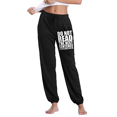Do Not Read The Next Sentence You Rebel Teenager Long Pants Joggers Sweatpants Autumn Winter Trousers Black
