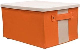 PPCP Folding Storage Box Wardrobe Storage Box with Lid Storage Box (Color : Orange)