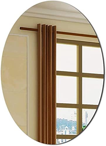 Espejo de tocador Iluminado para baño, baño Ovalado HD, Redondo, Simple, para Colgar en la Pared, Vertical, Horizontal (tamaño: 500 mm700 mm)