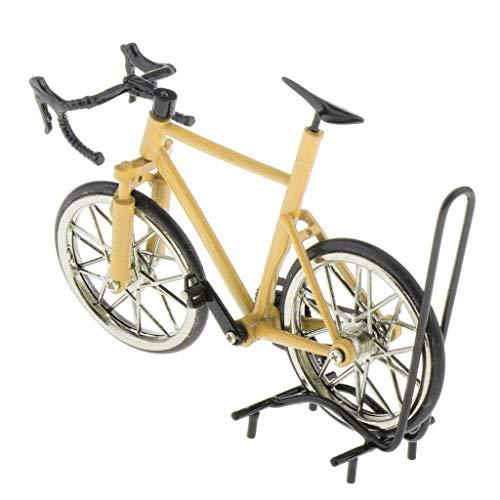 dailymall 1:16 Legierung Diecast Fahrrad Rennrad Modell für Puppenhaus/Puppenstube Dekoration - Gelb