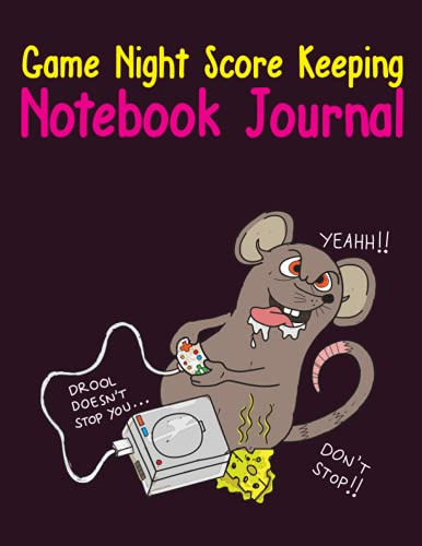 Game Night Score Keeping Notebook Journal: Simple Gaming Log For Many Family Games   Blank Score Sheets Allow You To Determine Players, Rounds, Layout and Tracking