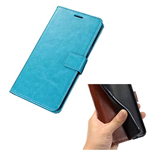 DQG Hülle für Crosscall Action-X3, Schutzhülle Tasche PU Leder mit Kreditkarten Geldfächern Schale & Weiche Hülle Handyhülle Standfunktion Cover für Crosscall Action-X3 (5.0