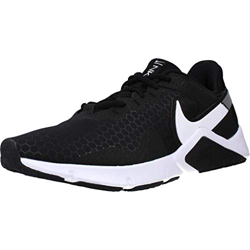Nike Legend Essential 2, Zapatillas Hombre, Black/White-Metallic Silver, 42 EU