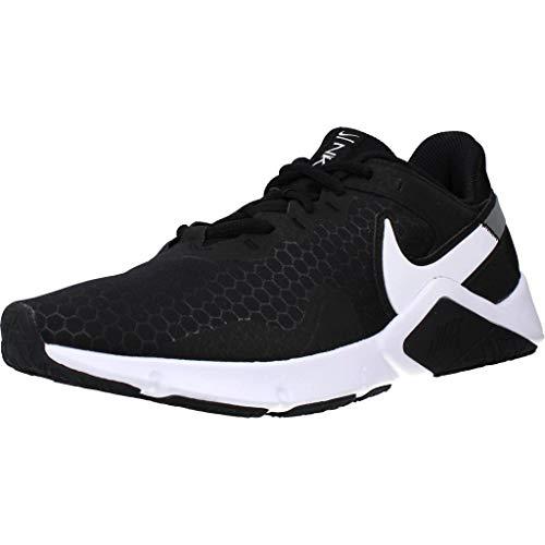 Nike Legend Essential 2, Scarpe da Ginnastica Uomo, Black/White-Metallic Silver, 40.5 EU