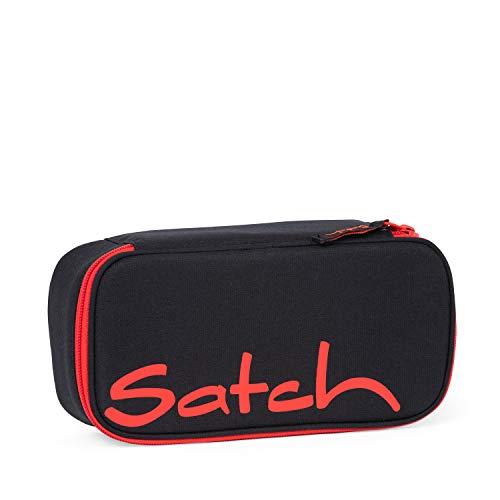 satch Schlamperbox - Mäppchen mit extra viel Platz, Trennfach, Geodreieck, Mehrfarbig - Fire Phantom - Black