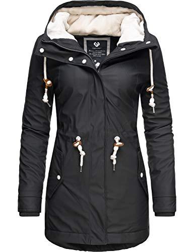 Ragwear Damen Outdoor-Jacke Regenparka Monadis Rainy Black Label Schwarz019 Gr. XL