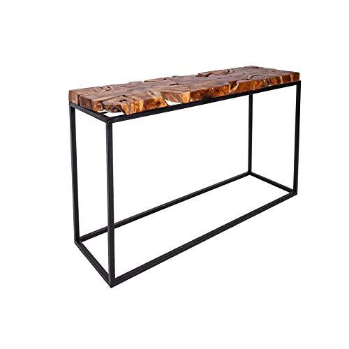 Einzigartiger Konsolentisch Teak Root 115cm Teakholz Industrial Design Konsole Beistelltisch Holztisch