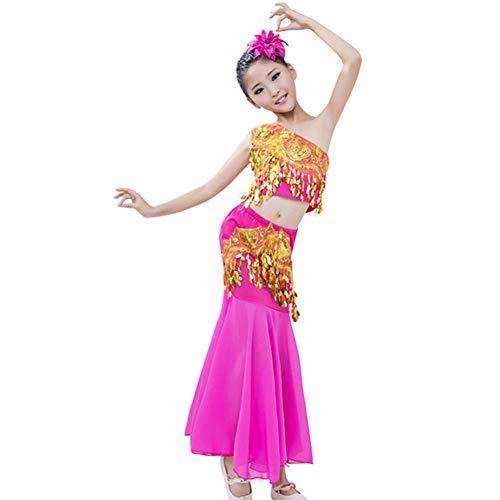Gtagain Tanzsport Bekleidung Mädchen Röcke Fischschwanzrock - Belly Moderner Dance Costumes Tanzkostüme Fasching Kostüme Darbietungen Bauchtanz