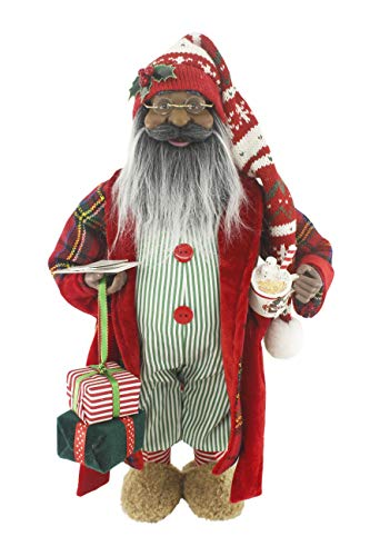 """Ethnic Sweet Dreams 16"""" Inch African American Santa Claus Standing Figurine Figure Decoration 160067"""
