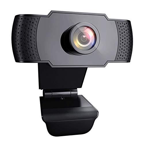 Foraer Webcam 1080P Full HD USB 2.0 Webcam per PC con Microfono Web Camera con Clip Regolabile per PC Laptop Desktop Videochiamata Giochi Studia Conferenza
