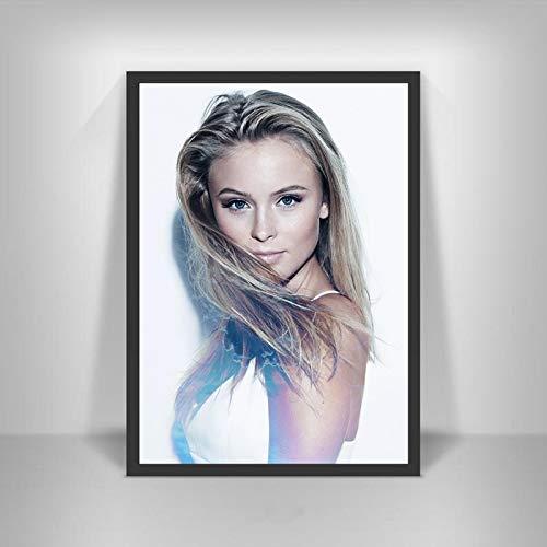 YF'PrintArt Leinwanddrucke Zara Larsson Poster Schwedische Musiksängerin Star Wall Art Picture Poster Und Drucke Für Room Home Decor Leinwandbild Rahmenlos 50X70Cm -A1222