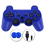 PS3 Controller, Wireless Controller Double Vibration Gamepad Compatible with Playstation 3, Controller with Charging Cable