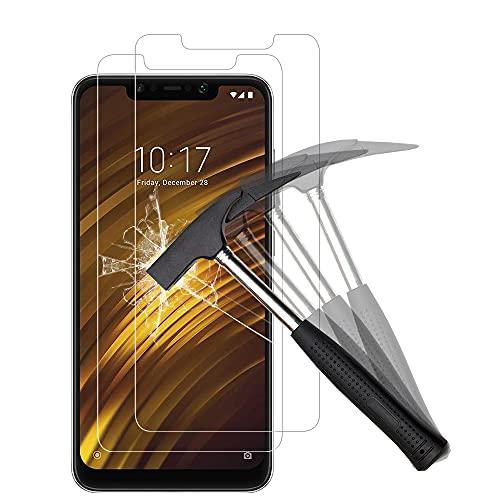 ANEWSIR Protector de Pantalla para Xiaomi Pocophone F1, [2 Piezas] Cristal Templado Xiaomi pocophone F1, Xiaomi F1 Protector de Pantalla [9H Dureza] [Resistente a Arañazos] [Garantía de por Vida].