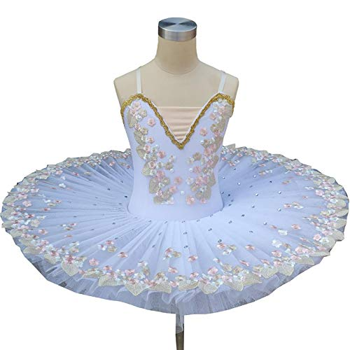 ZYLL Disfraz de tut de Ballet del Lago de los cisnes para nias, Vestido de Bailarina para nios, Vestido de Ballet para nios, Ropa de Baile, Vestido de Baile para nia,A,120CM