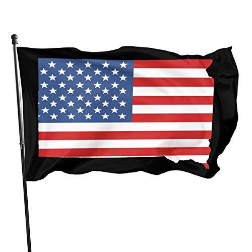 LL-Shop Mapa del Estado de Dakota del Sur y la Bandera Estadounidense Bandera Estadounidense 3x5 pies Bandera Militar de EE. UU. Banderas Exteriores Ojales de latón