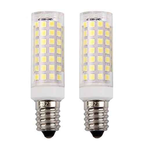 E14 LED Lampe 9W, Ersatz für 75W Halogenlampen, Kaltweiß 6000K, 360°Strahlwinkel, 220V-240V AC, für Kronleuchter Wandlampe (2er-Pack)