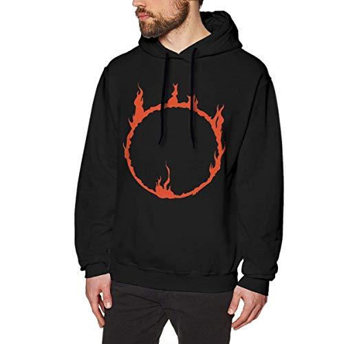 SHUNFAN Homme Sweats à Capuche, Sweat-Shirt à Capuche, Dark Sign Mens Long Sleeve Sweatshirts Men Hoodies Black