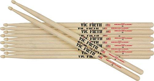 Vic Firth - 6 paia di bacchette classiche in legno di noce americano 2B