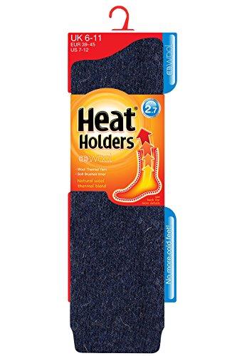 HEAT HOLDERS Homme LONGUE LAINE 2,7 Tog origine des détenteurs de chaleur thermiques Chaussettes, 39-45 eur (Marine)
