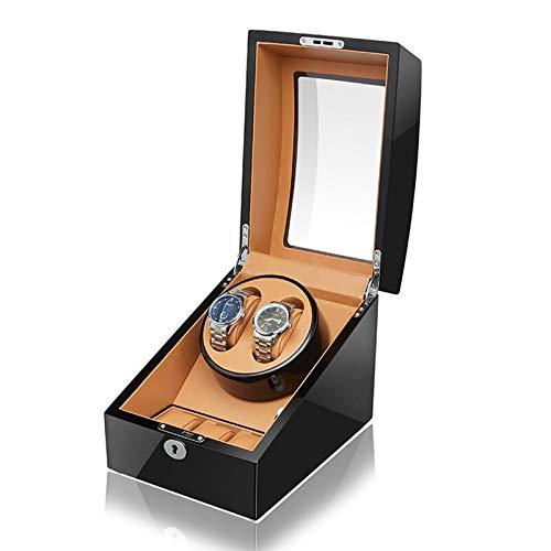 Yxx max Reloj devanadera Automático de 2 + 3 Caja de Reloj devanadera con Mute Motor Reloj Ajustable Almohadas - Un montón de Espacio for Grandes Relojes Fit Hombre Reloj de Las Mujeres