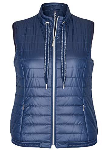 Rabe Chaleco para mujer con tejido monocolor y cordón en el cuello alto. azul vaquero 48