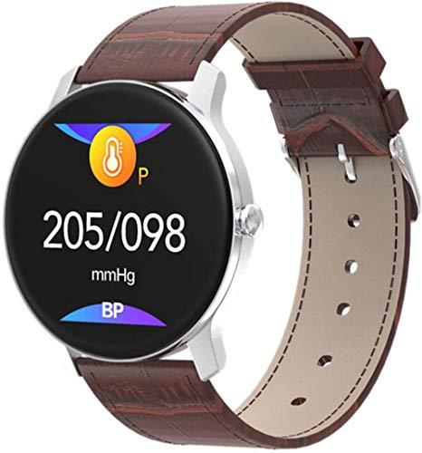 JSL Reloj inteligente para hombre con pantalla HD para Android IOS IP67, resistente al agua, frecuencia cardíaca, monitoreo de presión arterial, reloj inteligente (color: B)-B