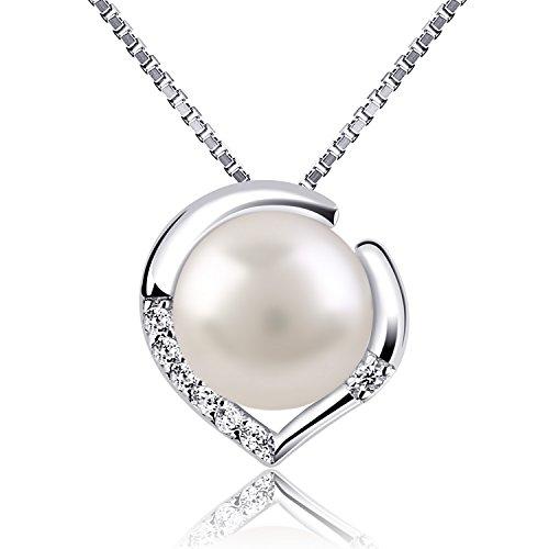 B.Catcher collana in argento per donna gioielli in argento 925 e perla d'acqua dolce collane