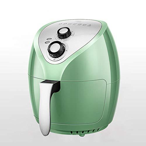Luchtfriteuse, multifunctionele huishoudelijk, volautomatische grote capaciteit, anti-aanbaklaag, olievrije elektrische friteuse, 1400 W, 3,5 l groen