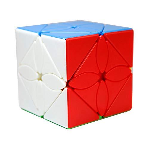 OJIN MoYu MoFang JiaoShi Meilong Series Meilong Maple Leaves Skewb Stickerless Cube Cubing Classroom Meilong Smooth Twist Puzzle Cube Juguetes Especiales(Sin Etiqueta)