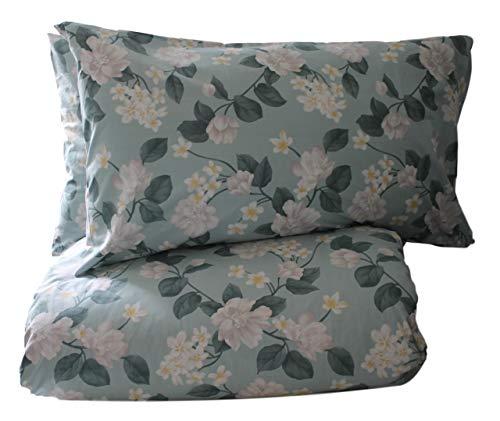 RICAMI FIORENTINI BALDI Funda nórdica con fundas de almohada, diseño de flores
