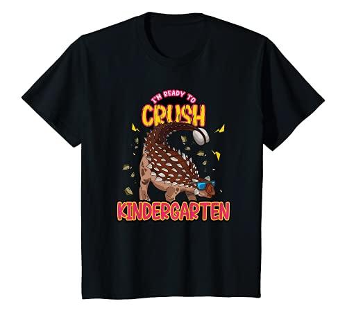 Kinder Funny Kids I'm Ready To Crush Kindergarten Ankylosaurus T-Shirt