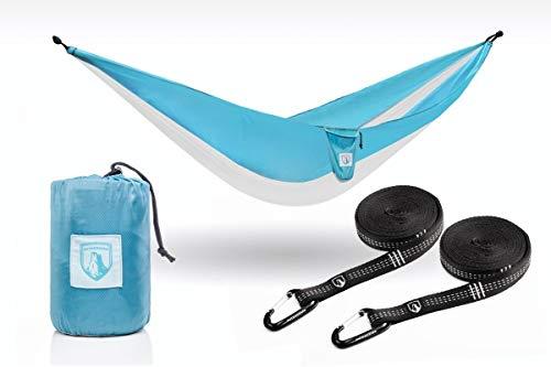 Outdoorser Micco Single Camping Hammock Light Blue/Grey