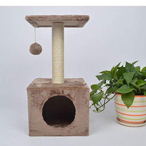 LuoMei Cat Scratch Posts Cat Scratch Tower Trees Cat Scratching Post Large with Cat Room Hanging Woobies Toy Two PlatformsD