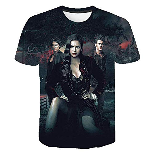 The Vampire Diaries T-Shirt Trendy Design T-Shirt Cartoon Print Tshirt Comfortable T Shirt for Boys and Girls Boys and Girls