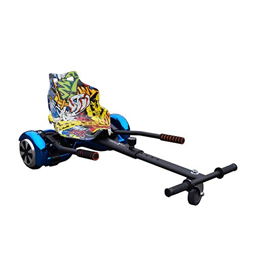 Gift Gadgets Offizieller Racer Hoverkart verstellbarer Gokart für Smart Self Balance Heavy Duty Rahmen Scooter passt 16,5 cm, 20,3 cm und 25,4 cm, Schwarz