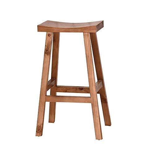 yjll Bar Stoel, Kruk Massief Hout Bar Kruk, Amerikaanse Modern Eenvoudige Voorstoel Hoge Kruk