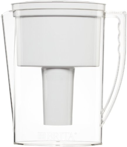Brita Slim Water Filter Pitcher, 5 Cup food, White