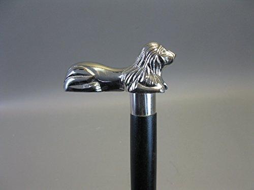 Bois Canne Canne Bâton de marche 92 cm avec poignée en métal lion Walking Clé M49