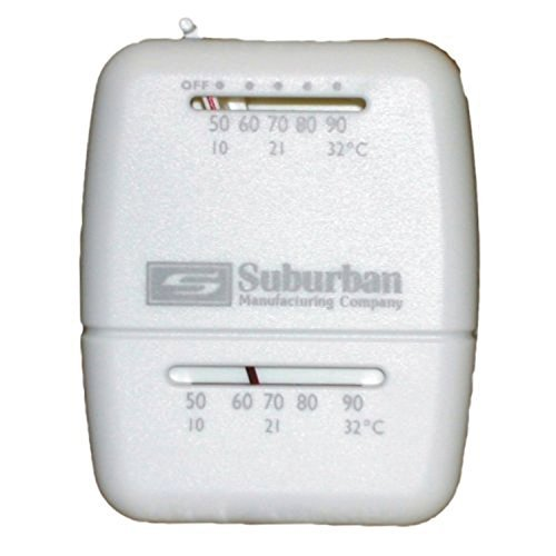 Suburban 161154 Wall Thermostat - Heat Only - White