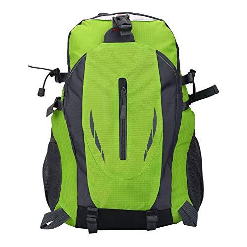 FOLOSAFENAR Mochila de Viaje para Acampar Mochila de Viaje Duradera Waterpoof 6 Colores Mochila Escolar para Viajes de Negocios para Escalada Montañismo Camping para(Green)
