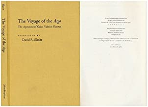 The Voyage of the Argo: The Argonautica of Gaius Valerius Flaccus by Gaius Valerius Flaccus (1999-10-07)