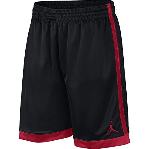 Nike Herren Jordan Shimmer Shorts, Black/Gym Red, XL