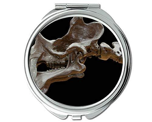 Yanteng Spiegel, Schminkspiegel, Dinosaurier-Säugetierwirbel, Taschenspiegel, 1 x 37-fache Vergrößerung