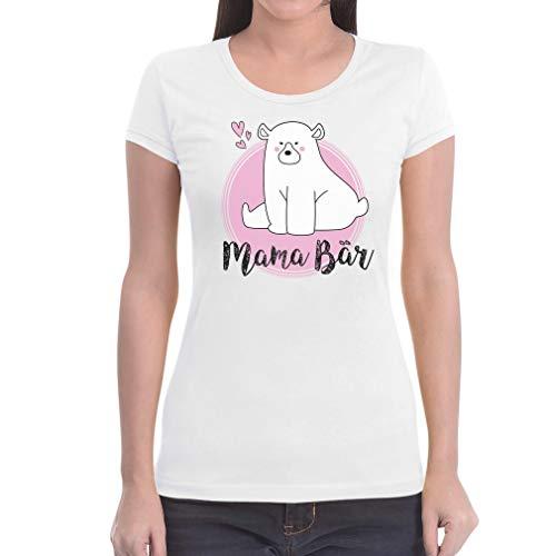 Cadeau voor moeders - schattige mama-beer met hartje dames T-shirt slim fit