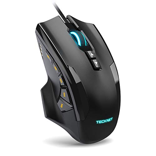 TeckNet M009 Gaming Mouse with 16400 DPI, Wired RGB LED Backlit Computer Mice,...
