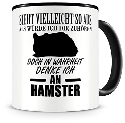 Samunshi® Ich denke an Hamster Tiere Tasse Kaffeetasse Teetasse Kaffeepott Kaffeebecher Becher