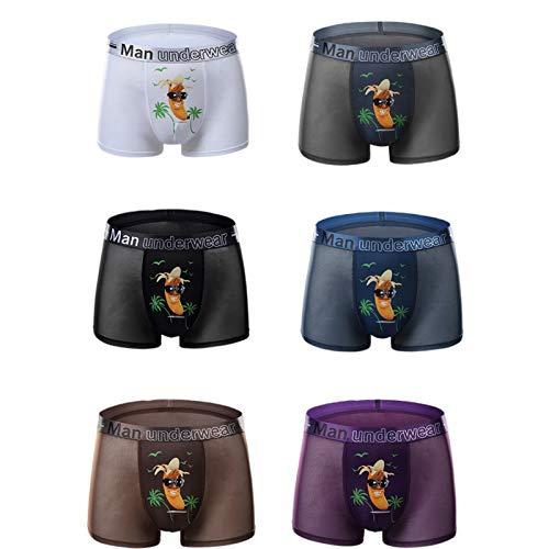 Q&M Herren Unterhosen Boxer-Shorts Sexy 3D Motive Unterwäsche Komfortabel Unterhose