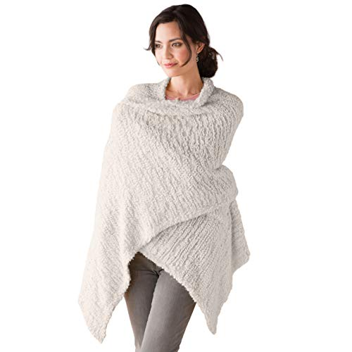 Taupe Women's One Size Soft Knit Nylon Giving Shawl Wrap in Gift Box